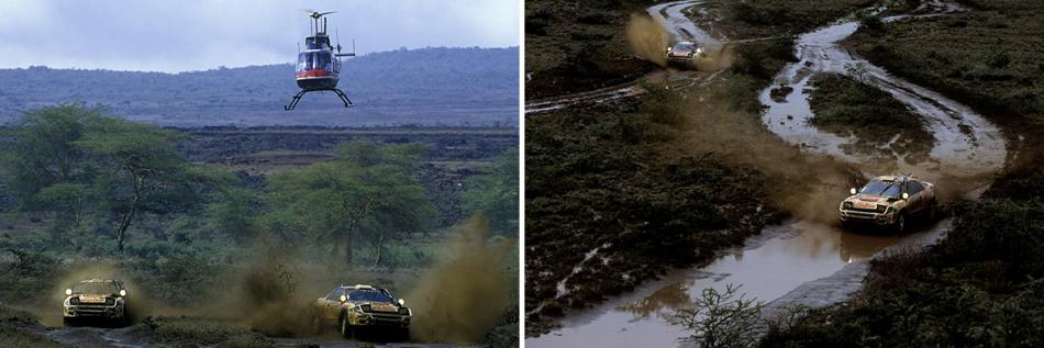 две Toyota Celica экипажей заводской команды Toyota Team Europe