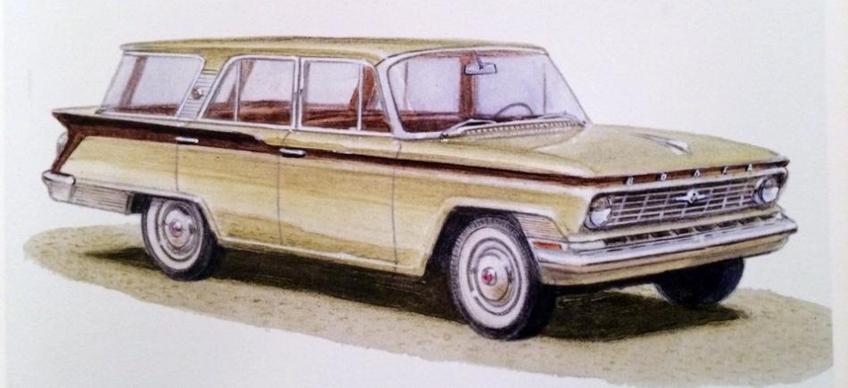 один из первых эскизов ГАЗ-24