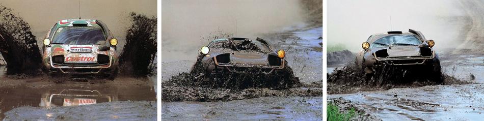 Toyota Celica в грязи