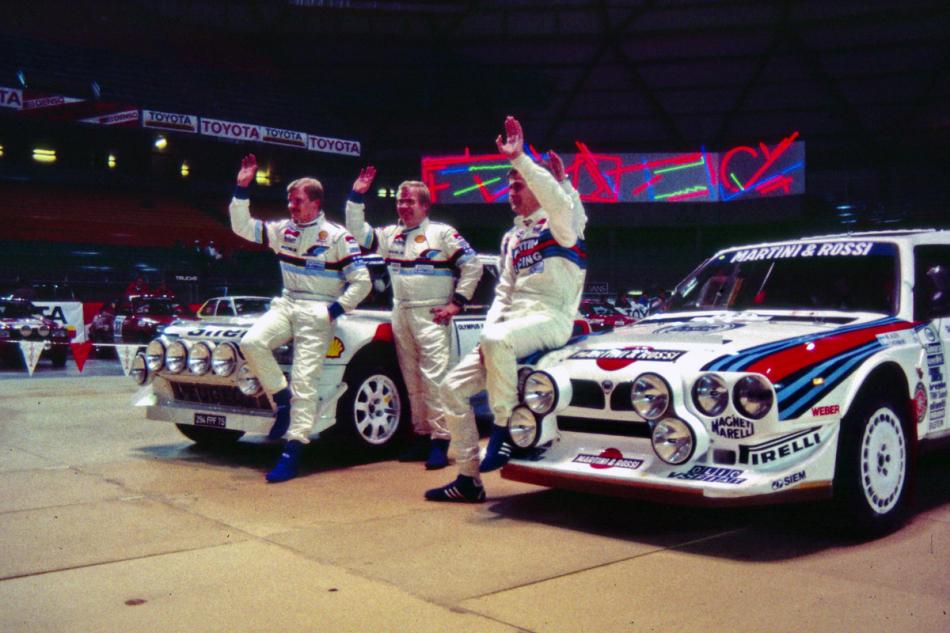 перед стартом заключительного этапа чемпионата мира по ралли 1986 года