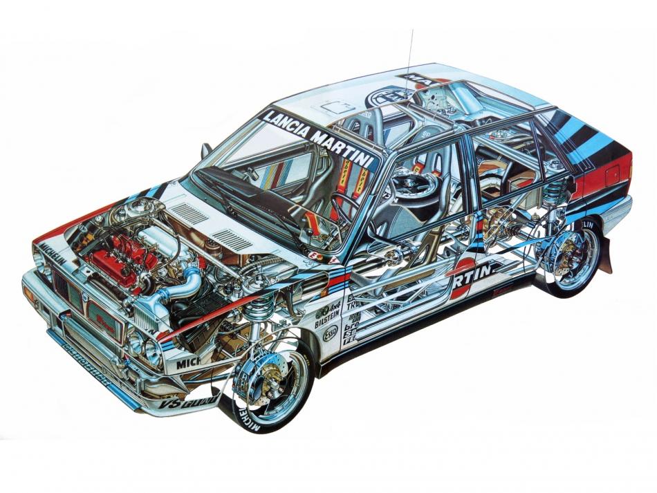 картинка Lancia Delta HF 4WD