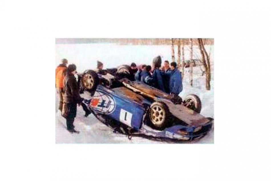 авария на Subaru Impreza WRC