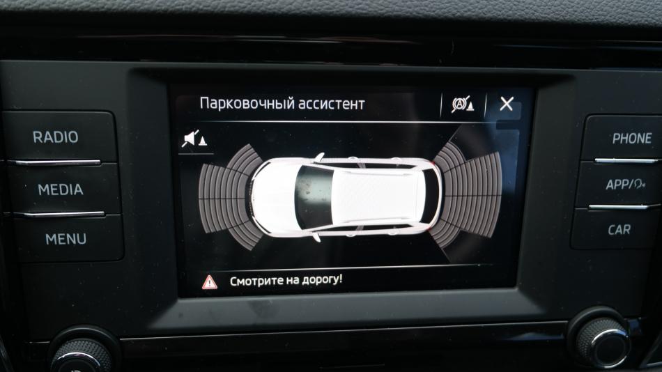 Skoda Karoq тест-драйв: дисплей