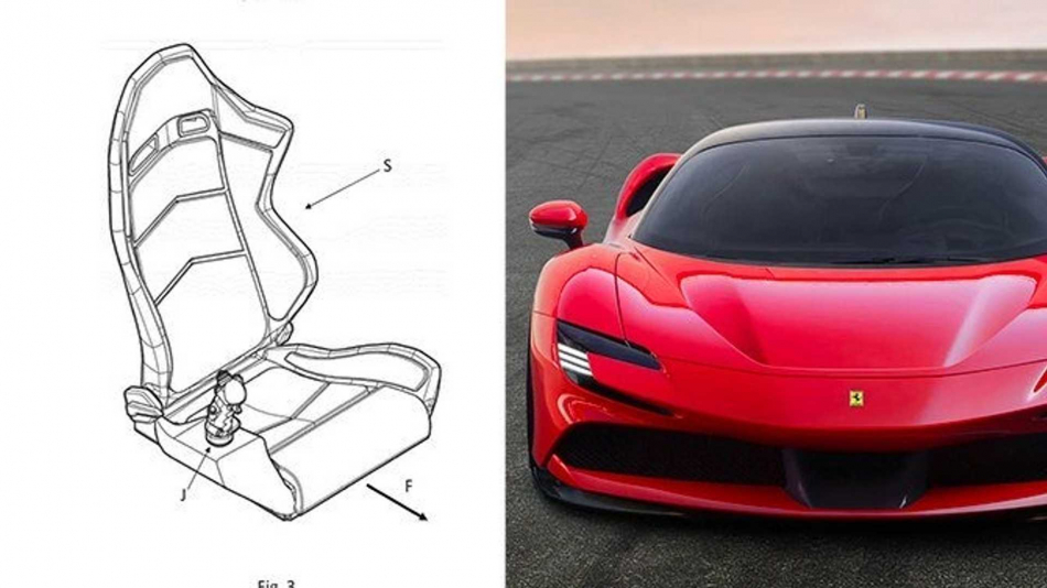 Патент джойстика Ferrari