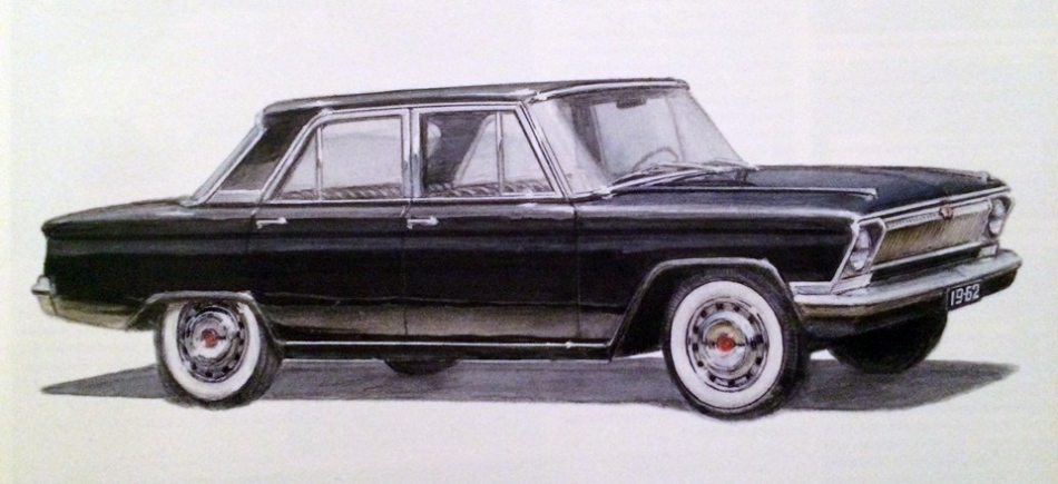 один из первых эскизов ГАЗ-24 1962 год
